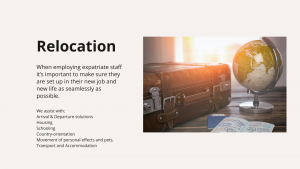 Experience in relocation
